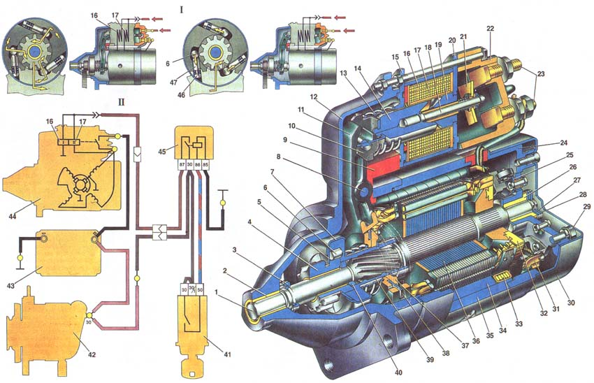 Схема стартера ваз 21213 белорусского производства